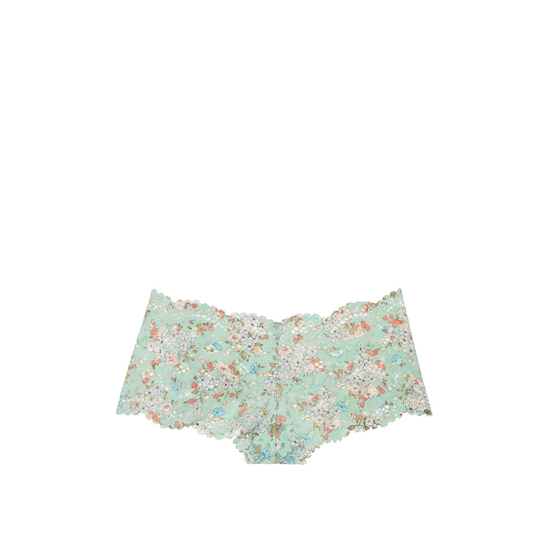 Cheap VICTORIA\'S SECRET Silver Sea Printed Lace NEW! The Floral Lace Sexy Shortie Online