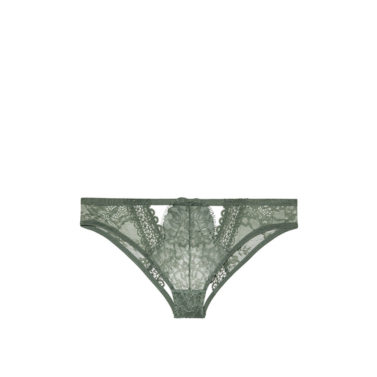 Cheap VICTORIA\'S SECRET Cadette Green Crochet Peek-A -Boo Cheekini Panty Online