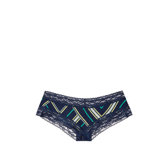 Cheap VICTORIA\'S SECRET Ensign Blue Mix Stripe NEW! Lace-waist Cheeky Panty Online