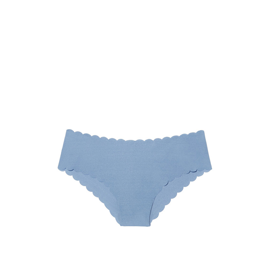 Cheap VICTORIA\'S SECRET Faded Denim Scalloped NEW! Raw Cut Cheeky Panty Online