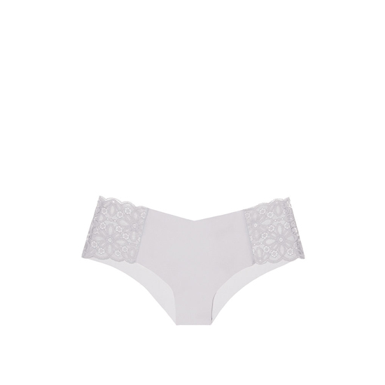 Cheap VICTORIA\'S SECRET So Silver Daisy Lace NEW! Raw Cut Cheeky Panty Online