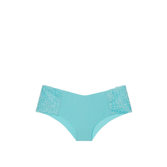 Cheap VICTORIA\'S SECRET Cozumel Teal Daisy Lace NEW! Raw Cut Cheeky Panty Online