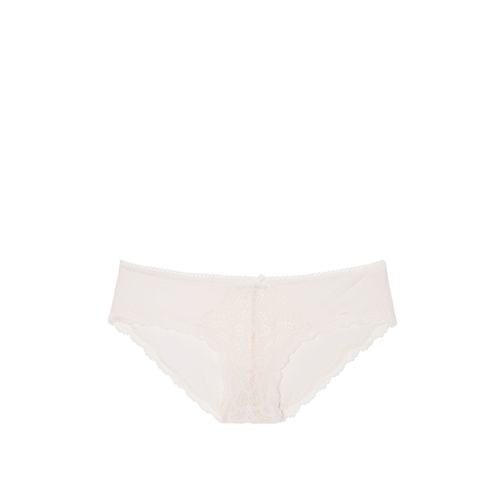 Cheap VICTORIA\'S SECRET Coconut White Crochet Lace Hiphugger Panty Online