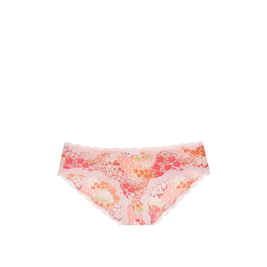 Cheap VICTORIA'S SECRET Lip Smacker Peach Print Crochet Lace Hiphugger Panty Online
