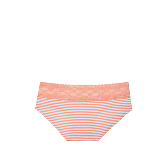 Cheap VICTORIA\'S SECRET Lip Smacker Peach Skinny Stripe Lace-waist Hiphugger Panty Online