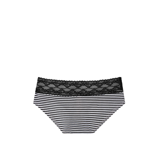 Cheap VICTORIA\'S SECRET Black Skinny Stripe Lace-waist Hiphugger Panty Online