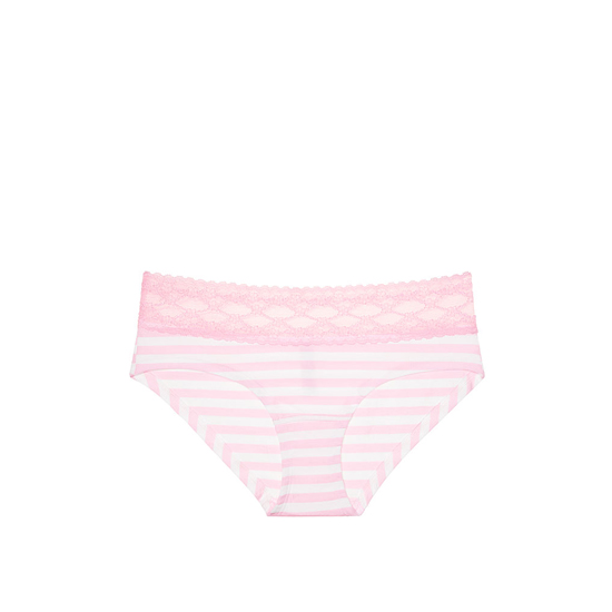 Cheap VICTORIA\'S SECRET Pink Stripe Lace-waist Hiphugger Panty Online