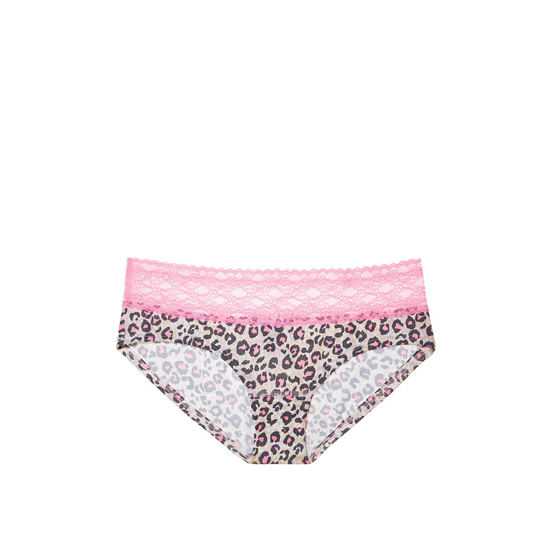 Cheap VICTORIA\'S SECRET Pink Animal Print Lace-waist Hiphugger Panty Online
