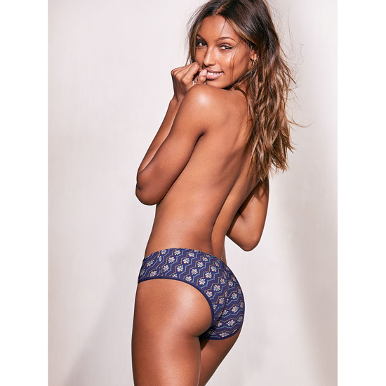 Cheap VICTORIA\'S SECRET Indigo Zig Zag Print NEW! Ruched-back Hiphugger Panty Online