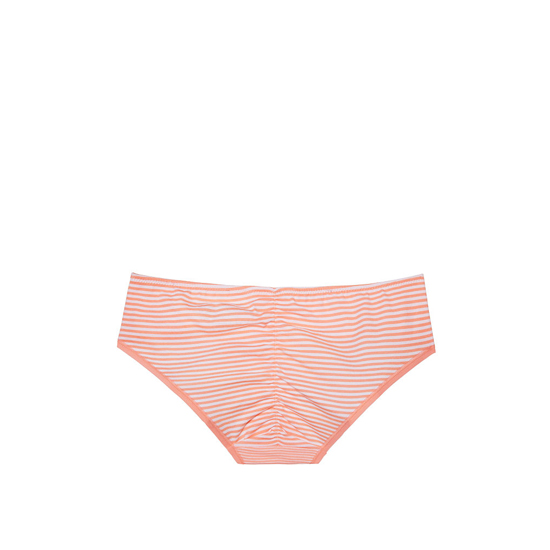 Cheap VICTORIA\'S SECRET Lip Smacker Peach Skinny Stripe NEW! Ruched-back Hiphugger Panty Online