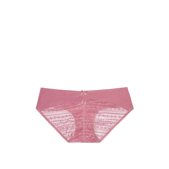 Cheap VICTORIA\'S SECRET Rosy Mauve NEW! Heart Ruched-back Hiphugger Panty Online