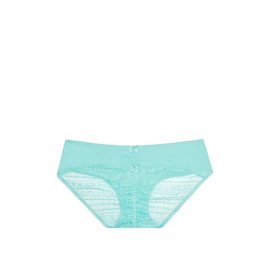 Cheap VICTORIA\'S SECRET Aqua Splash NEW! Heart Ruched-back Hiphugger Panty Online