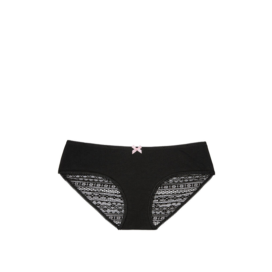 Cheap VICTORIA\'S SECRET Black NEW! Heart Ruched-back Hiphugger Panty Online