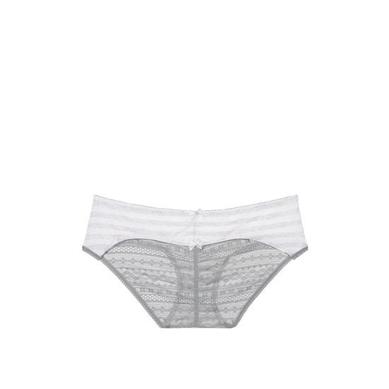 Cheap VICTORIA\'S SECRET Grey Iconic Stripe NEW! Heart Ruched-back Hiphugger Panty Online