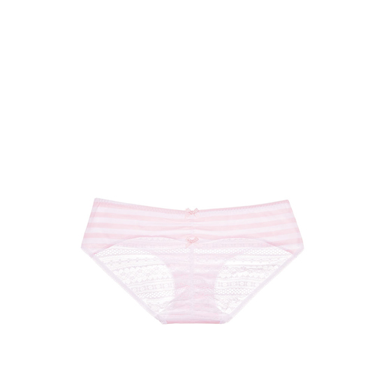 Cheap VICTORIA\'S SECRET Pink Iconic Stripe NEW! Heart Ruched-back Hiphugger Panty Online