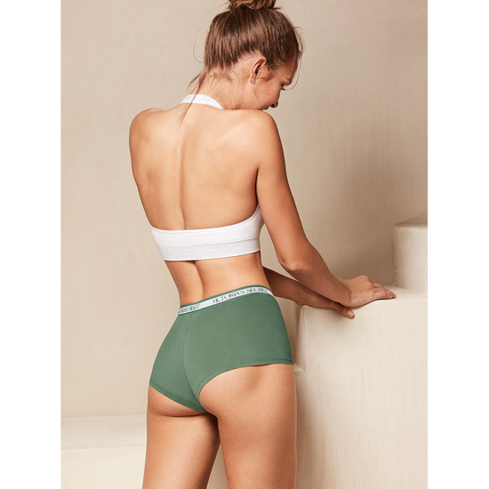 Cheap VICTORIA\'S SECRET Cadette Green NEW! Logo-waist Shortie Panty Online