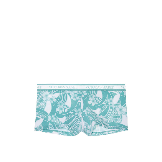 Cheap VICTORIA\'S SECRET Blue Wave Print NEW! Logo-waist Shortie Panty Online