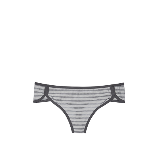 Cheap VICTORIA\'S SECRET Sterling Pewter Shadow Stripe NEW! Curved-hem Thong Panty Online