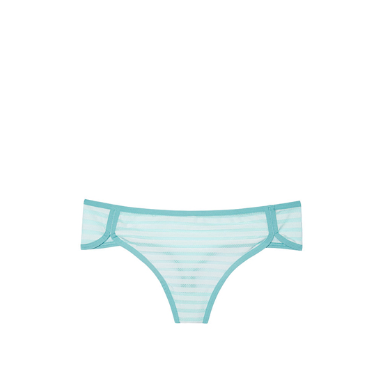 Cheap VICTORIA\'S SECRET Blue Tint Shadow Stripe NEW! Curved-hem Thong Panty Online