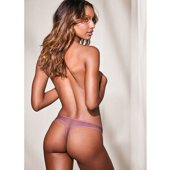 Cheap VICTORIA\'S SECRET Gentle Mauve NEW! Textured Thong Panty Online