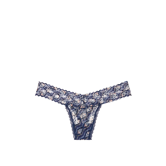 Cheap VICTORIA\'S SECRET Blue Multi Print Thong Panty Online