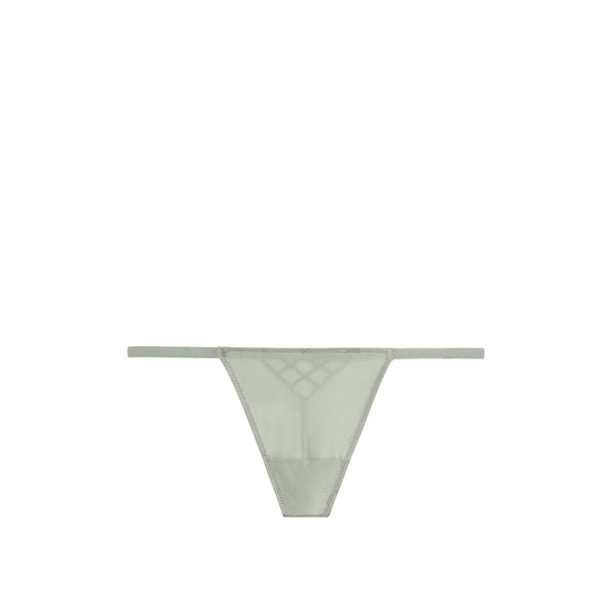 Cheap VICTORIA\'S SECRET Silver Sea Caged Back T-Back V-String Panty Online