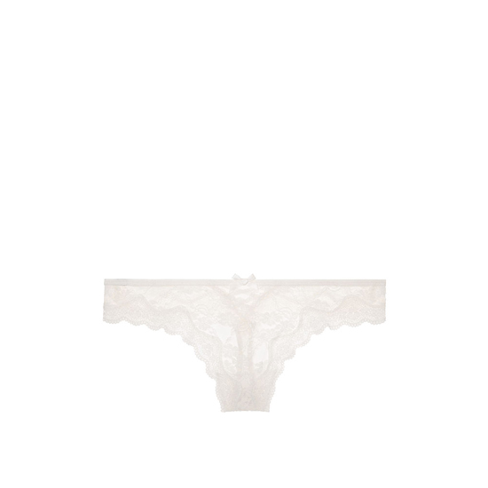 Cheap VICTORIA\'S SECRET Coconut White NEW! Strappy Lace Thong Panty Online