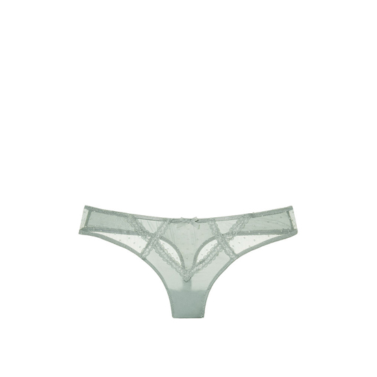 Cheap VICTORIA\'S SECRET Silver Sea NEW! Lace Cutout Thong Panty Online