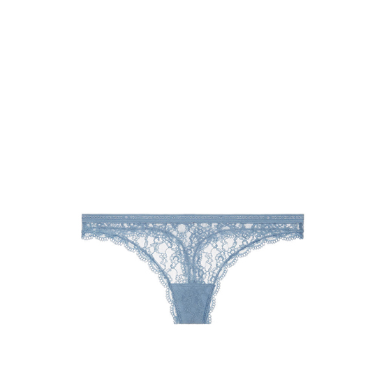 Cheap VICTORIA\'S SECRET Faded Denim Lace Thong Panty Online