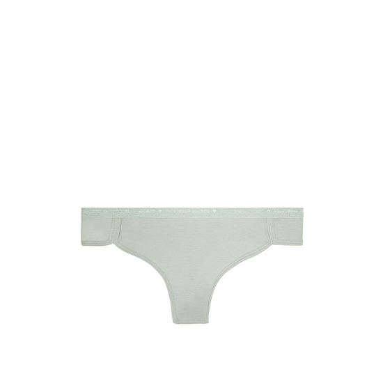 Cheap VICTORIA\'S SECRET Silver Sea NEW! Curved-hem Thong Panty Online
