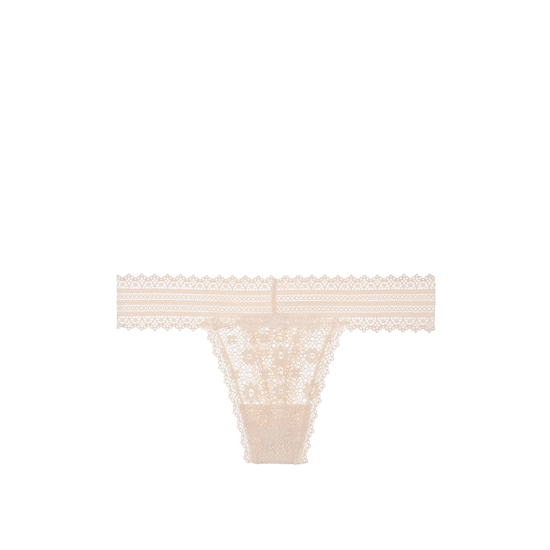 Cheap VICTORIA'S SECRET Champagne NEW! Medallion Lace Thong Panty Online