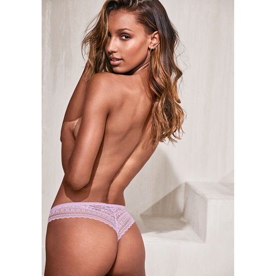 Cheap VICTORIA\'S SECRET Fair Orchid Lace Wrap Lace-waist Thong Panty Online