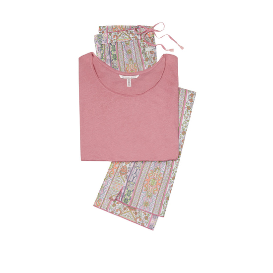 Cheap VICTORIA\'S SECRET Rosy Mauve/Pink Paisley Stripe NEW! The Mayfair Tee-jama Online