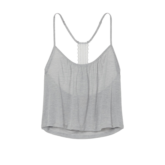 Cheap VICTORIA\'S SECRET Heather Grey NEW! Lace-back Cami Online