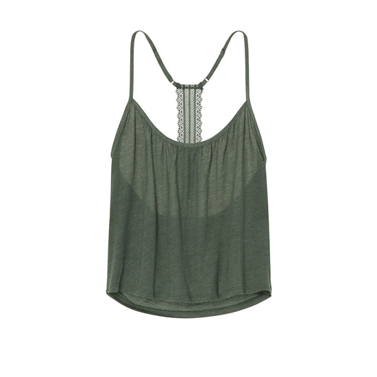 Cheap VICTORIA\'S SECRET Cadette Green NEW! Lace-back Cami Online