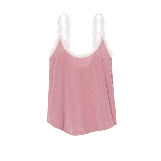 Cheap VICTORIA\'S SECRET Rose Luster NEW! Ribbed Sleep Cami Online