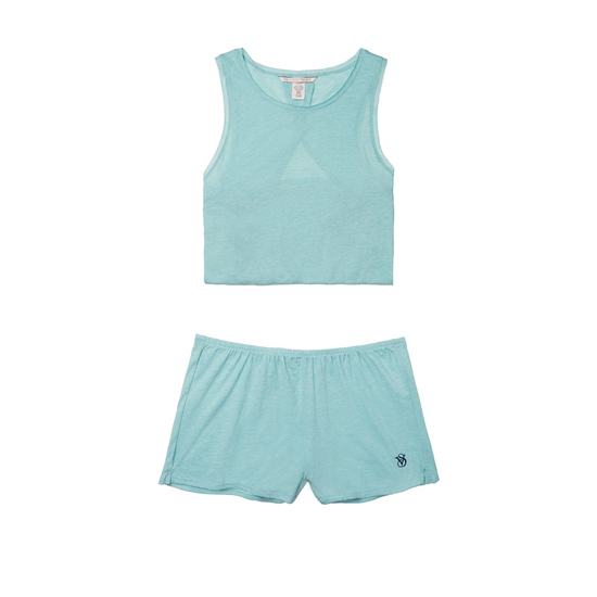 Cheap VICTORIA\'S SECRET Cozumel Teal NEW! Open-back Tank & Short Set Online