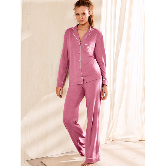 Cheap VICTORIA\'S SECRET Rosy Mauve NEW! The Sleepover Knit Pajama Online
