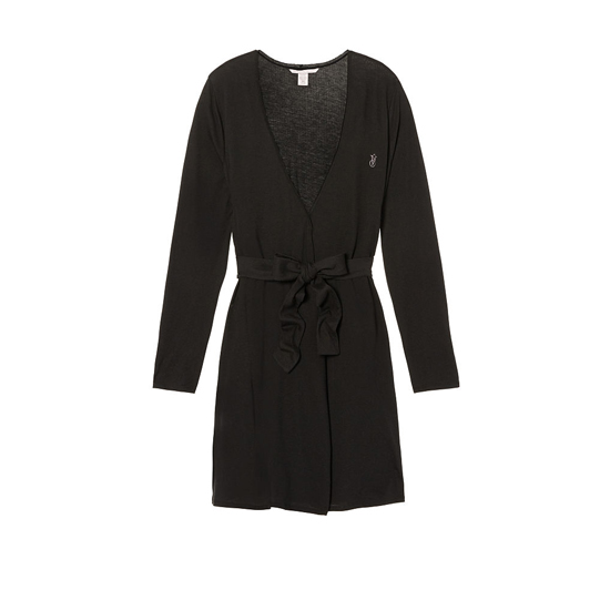 Cheap VICTORIA\'S SECRET Black NEW! Sleepover Knit Robe Online