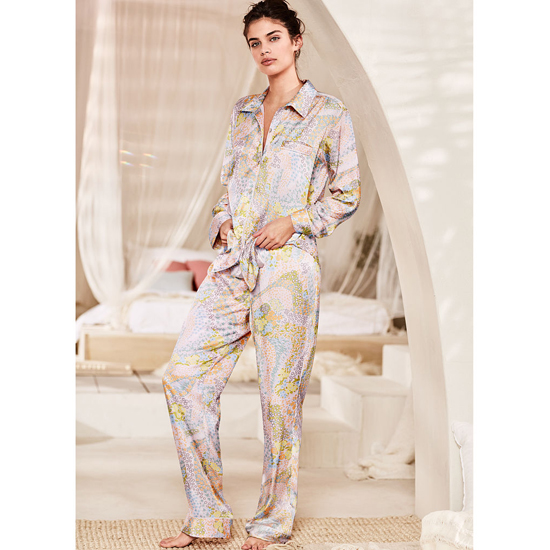 Cheap VICTORIA\'S SECRET Cool Floral NEW! The Afterhours Satin Pajama Online
