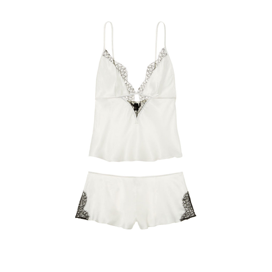 Cheap VICTORIA'S SECRET VS Ivory NEW! Satin & Lace Cami & Short Set Online