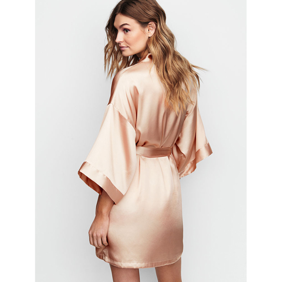 Cheap VICTORIA\'S SECRET Champagne NEW! Satin Kimono Online