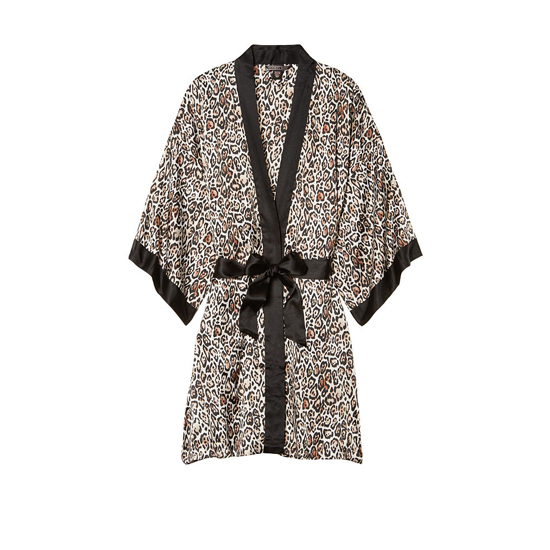 Cheap VICTORIA\'S SECRET Play Nice Leopard NEW! Satin Kimono Online