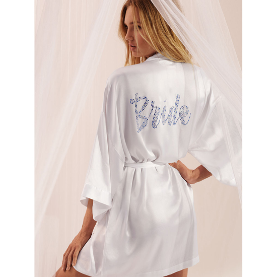 Cheap VICTORIA\'S SECRET White Bridal Robe Online