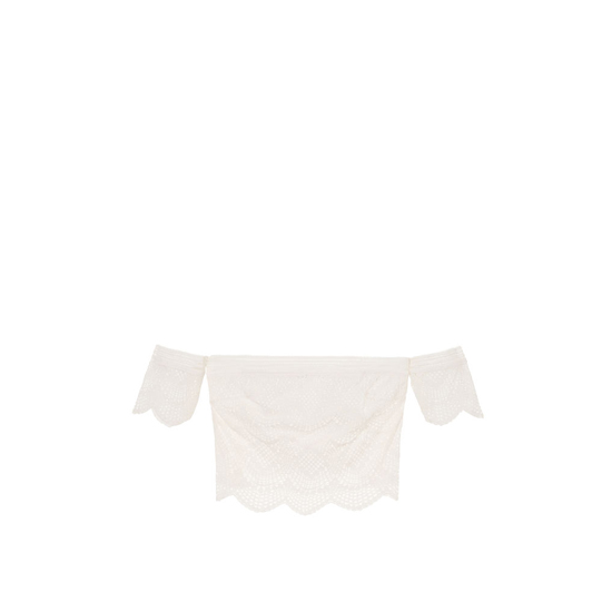 Cheap VICTORIA\'S SECRET Coconut White NEW! Lace Off-the-shoulder Top Online