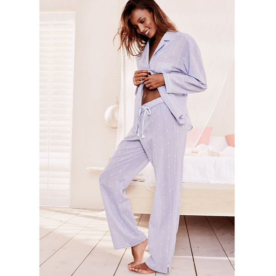 Cheap VICTORIA\'S SECRET Indigo Dobby NEW! The Mayfair Pajama Online