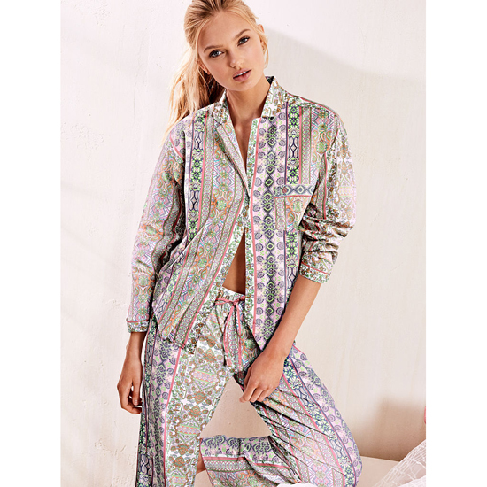 Cheap VICTORIA\'S SECRET Pink Paisley Stripe NEW! The Mayfair Pajama Online