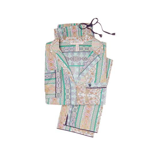 Cheap VICTORIA'S SECRET Green/Blue Paisley Stripe NEW! The Mayfair Pajama Online