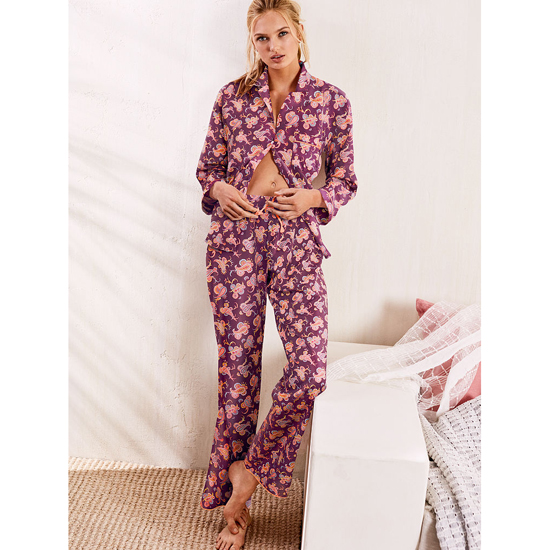 Cheap VICTORIA\'S SECRET Ruby Wine Paisley NEW! The Mayfair Pajama Online
