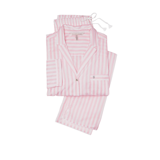 Cheap VICTORIA\'S SECRET Pink Stripe NEW! The Mayfair Pajama Online